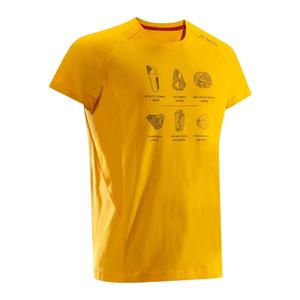 Klettershirt Kurzarm Herren gelb