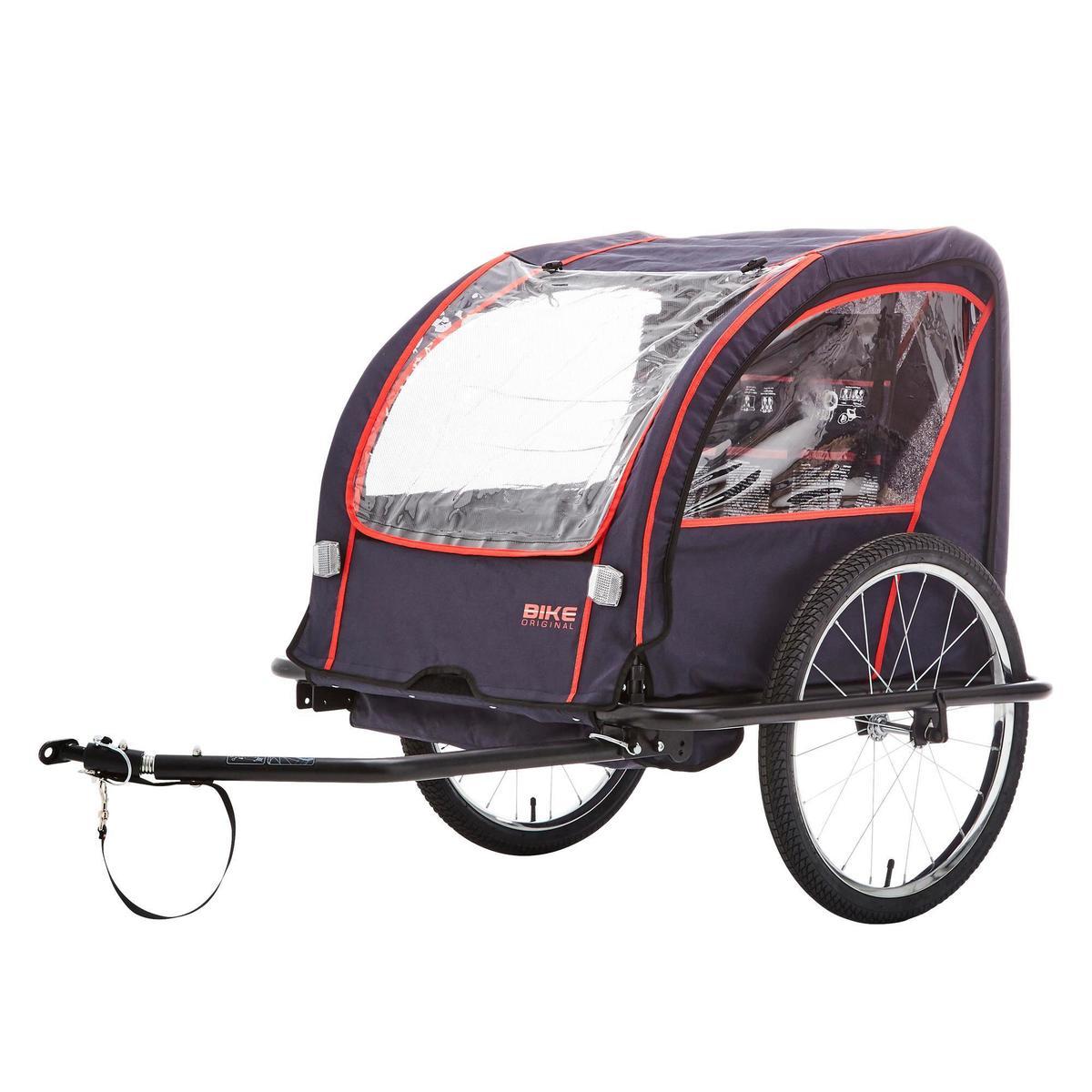 Bild 1 von Kinder-Fahrradanhänger 100 Stahlgestell indigoblau