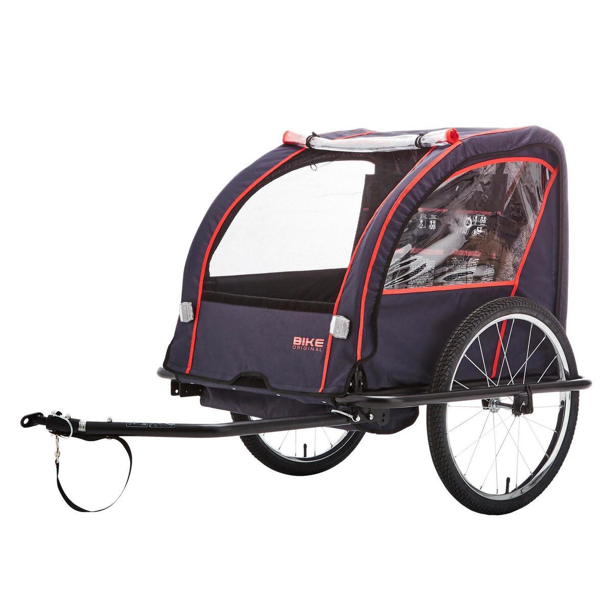 Bild 2 von Kinder-Fahrradanhänger 100 Stahlgestell indigoblau