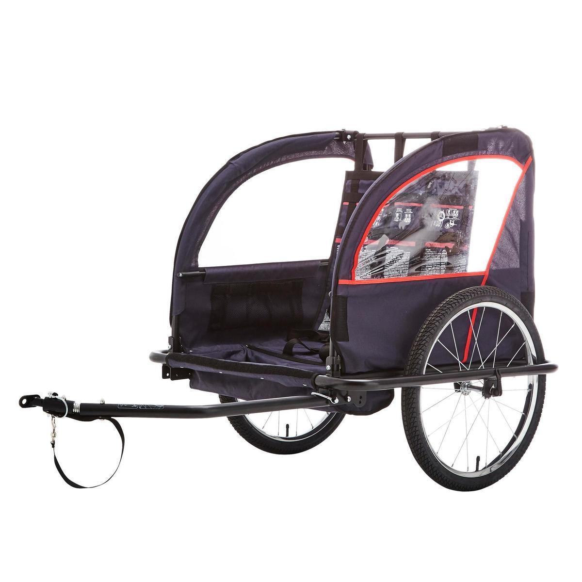 Bild 3 von Kinder-Fahrradanhänger 100 Stahlgestell indigoblau