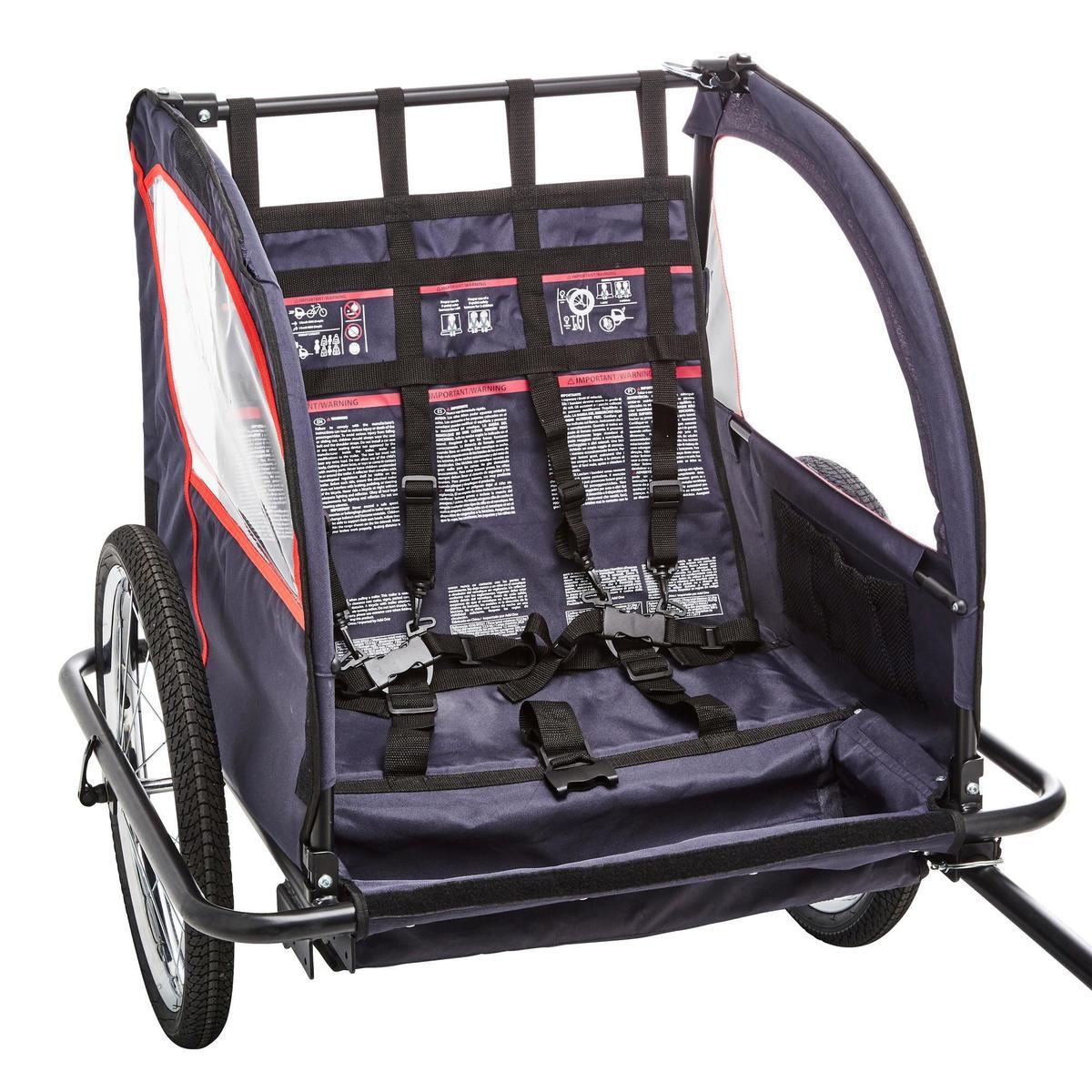 Bild 4 von Kinder-Fahrradanhänger 100 Stahlgestell indigoblau