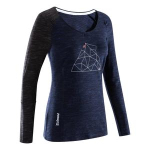 Klettershirt langarm Damen Ladies Place indigoblau