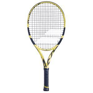 Tennisschläger Pure Aero 25´´ besaitet Kinder schwarz/gelb