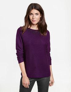 Pullover mit Steinchenzier