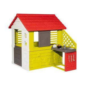 Smoby   Spielhaus mit Sommerküche Natur Haus