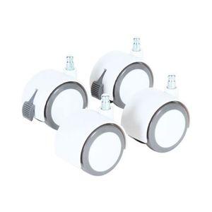 babybay®   Rollensatz Parkett für Beistellbett weiß