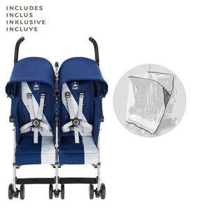 Maclaren   Twin Triumph Zwillings- und Geschwisterbuggy mit Liegefunktion Blue/Silver