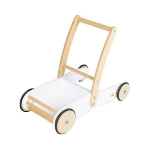 Pinolino   Lauflernwagen Uli aus Holz weiß/natur