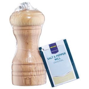 METRO Professional Salz & Pfeffermühle Natur Holz 11,5 cm