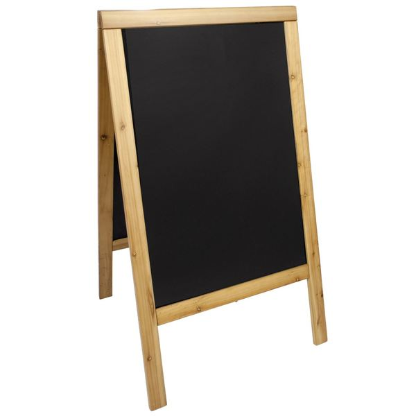 Securit Gehweg-Kreidetafel Woody 120 x 70 cm