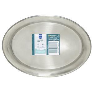 METRO Professional Kaffeetablett Silber oval