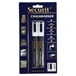 Securit Illumigraph Kreidemarker small Weiß 2 - 6 mm - 2 Stück
