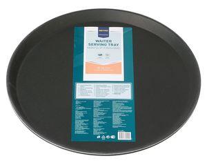 METRO Professional Kellnertablett rutschfest Schwarz rund Ø 36 cm