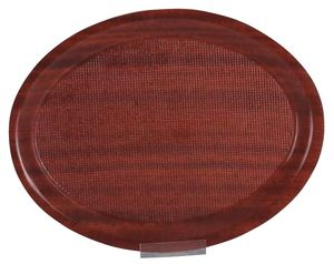 METRO Professional Kellnertablett rutschfest 20  x  26,5 cm Braun oval