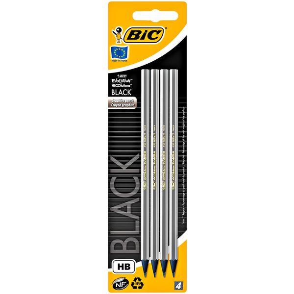 Bic Evolution Black Bleistift HB Schwarz - 4 Stück