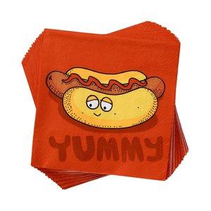Papierserviette Hotdog Yummy