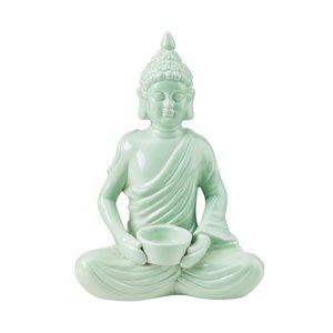 Buddha mit Teelichthalter Höhe 28,5 cm