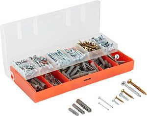 Schrauben- und Dübel-Set  > Aus verzinktem Stahl bzw. Polyamid