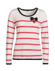 Birgit Schrowange - Streifen-Shirt mit Brosche