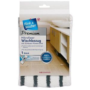 flink & sauber Premium Mikrofaser Wischbezug mit Scheuer-Powerzone