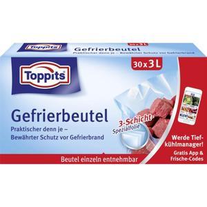 Toppits Gefrierbeutel 30 x 3 l