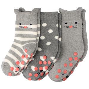 3 Paar Baby Socken mit ABS-Noppen