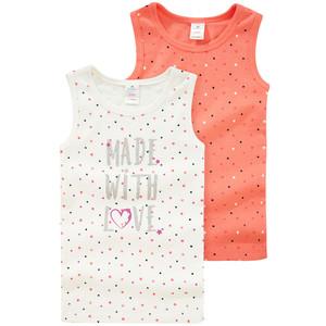 2 Baby Unterhemden mit Stern-Allover