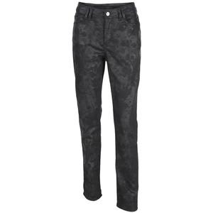 Damen Jeans mit floralem Ton in Ton Print