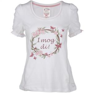 Damen Shirt im Trachtenlook mit Strasssteinchen