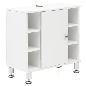 WOHNLING Waschbeckenunterschrank 60 x 64 x 32 cm Weiß