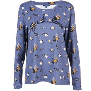 Damen Sweatshirt im Blumenprint