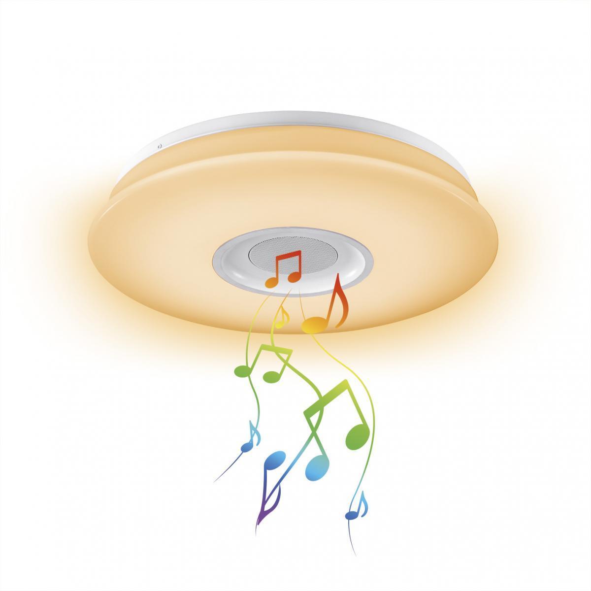Bild 2 von EASYmaxx LED-Deckenleuchte 18W weiß mit Bluetooth-Lautsprecher & Fernb.