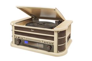 Dual Stereo-Nostalgie-Komplettanlage NR 4 - hellbraun