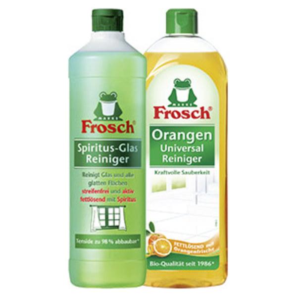 Frosch Spiritus Glasreiniger 1 Liter oder Universalreiniger 750 ml, versch. Sorten, jede Flasche