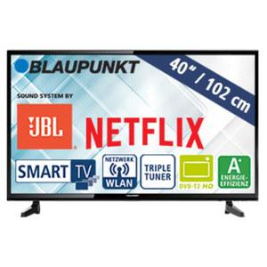 "40""-FullHD-LED-TV BLA-40/148M • 3 HDMI-/2 USB-Anschlüsse, CI+ • Stand-by: 0,5 Watt, Betrieb: 48 Watt • Maße: H 55,2 x B 92,8 x T 9,1 cm • Energie-Effizienz A+ (Spektrum A++ bis E)"