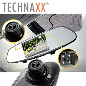 2-in-1-Rückspiegel-Dashcam TX-124 im Rückspiegel integrierte HD-Dashcam, 90°-Blickwinkel, 4,3-Zoll-TFT-Screen, Aufnahmeautomatik