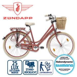 Citybike Roosendaal - Shimano-Nexus-3-Gang-Nabenschaltung, Drehgriffschalter - Alu-V-Bremsen, Rücktrittbremse - Rahmenhöhe: 50 cm (28er) - Lenkerkorb - Preis für vormontierte Räder