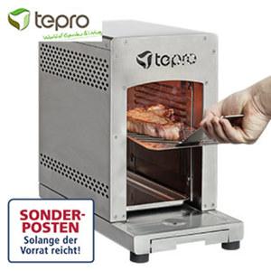 """Gasgrill """"Steakmaschine Toronto"""" - 1 Keramik-Infrarotbrenner, ca. 3 kW - doppelwandiges Edelstahl-Gehäuse - innerhalb von max. 2 min auf Betriebstemperatur von ca. 800 °C - 2 Edelstahl-Grillros"""