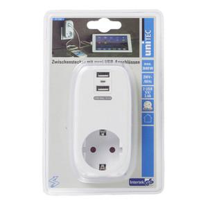 uniTec Steckdosenadapter mit USB-Anschlüssen