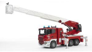 BRUDER - Scania R-Serie Feuerwehrleiterwagen mit Wasserpumpe und Light & Sound Module  03590
