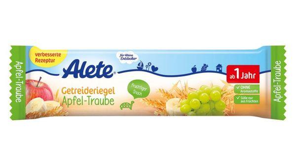 Alete Getreideriegel Apfel-Traube