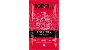 BODY&SOUL Feuchtigkeitsmaske Red Berry Spa Pleasure Granatapfel & Cranberry