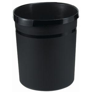 Han Papierkorb GRIP, für Innenbereich, PP, umlaufender Griffrand mit 2 Griffmulden, rund, 18 l, 312 x 345 mm, schwarz