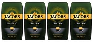 Jacobs Espresso Expertenröstung | ganze Bohne | 4x1000g