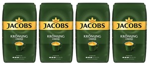 Jacobs Krönung Crema | ganze Bohne | 4x1000g