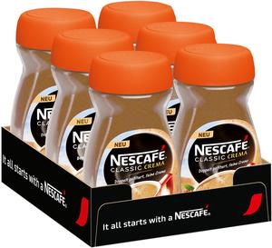 Nescafé Classic Crema | löslicher Kaffee | 6 x  200g