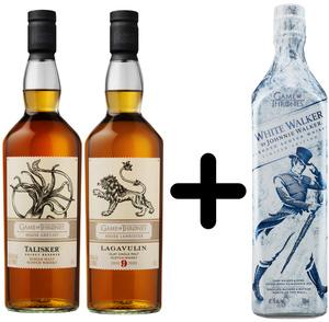 Lagavulin & Talisker Game of Thrones Whisky je 0,7l dazu White Walker 0,7l Kostenlos