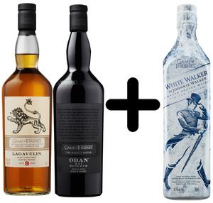 Lagavulin & Oban Game of Thrones Whisky je 0,7l dazu White Walker 0,7l Kostenlos