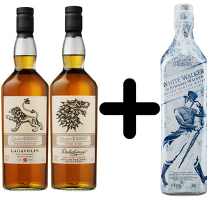 Lagavulin & Dalwhinnie Game of Thrones Whisky je 0,7l dazu White Walker 0,7l Kostenlos