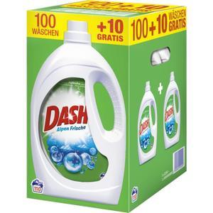 Dash Vollwaschmittel Alpen Frische Flüssig 110 WL 0.09 EUR/1 WL